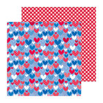 Doodlebug Design - Stars and Stripes Collection - 12 x 12 Double Sided Paper - Heartland