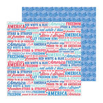 Doodlebug Design - Stars and Stripes Collection - 12 x 12 Double Sided Paper - Americana