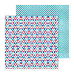 Doodlebug Design - Stars and Stripes Collection - 12 x 12 Double Sided Paper - Star Spangled
