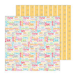 Doodlebug Design - Take Note Collection - 12 x 12 Double Sided Paper - Count On It