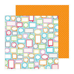 Doodlebug Design - Take Note Collection - 12 x 12 Double Sided Paper - Say What