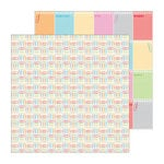 Doodlebug Design - Take Note Collection - 12 x 12 Double Sided Paper - Color Clips