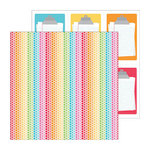 Doodlebug Design - Take Note Collection - 12 x 12 Double Sided Paper - Ditto Dots