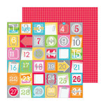 Doodlebug Design - Take Note Collection - 12 x 12 Double Sided Paper - Countdown