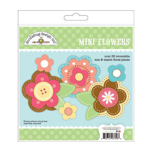 Doodlebug Design - Flower Box Collection - Mini Flowers Craft Kit