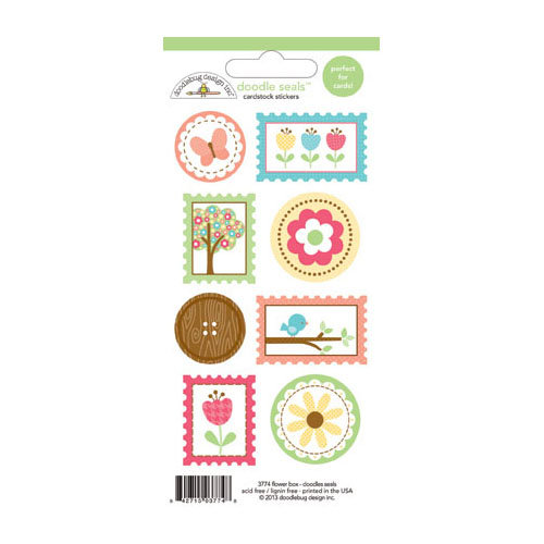 Doodlebug Design - Flower Box Collection - Cardstock Stickers - Seals