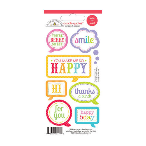 Doodlebug Design - Fruit Stand Collection - Cardstock Stickers - Quotes