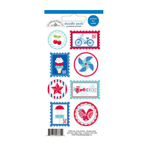 Doodlebug Design - Stars and Stripes Collection - Cardstock Stickers - Seals