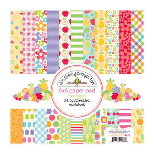 Doodlebug Design - Fruit Stand Collection - 6 x 6 Paper Pad