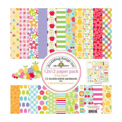 Doodlebug Design - Fruit Stand Collection - 12 x 12 Paper Pack