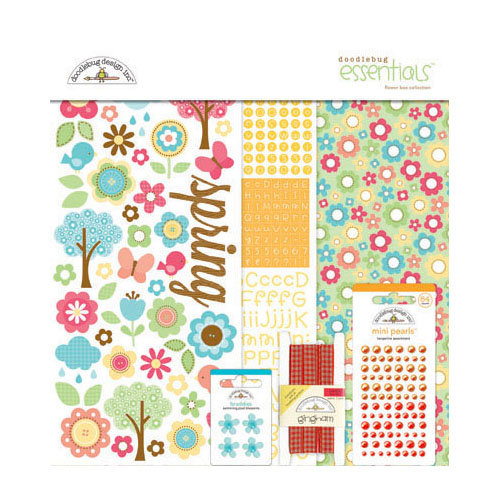 Doodlebug Design - Flower Box Collection - Essentials Kit