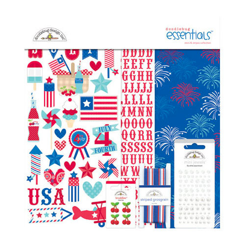 Doodlebug Design - Stars and Stripes Collection - Essentials Kit