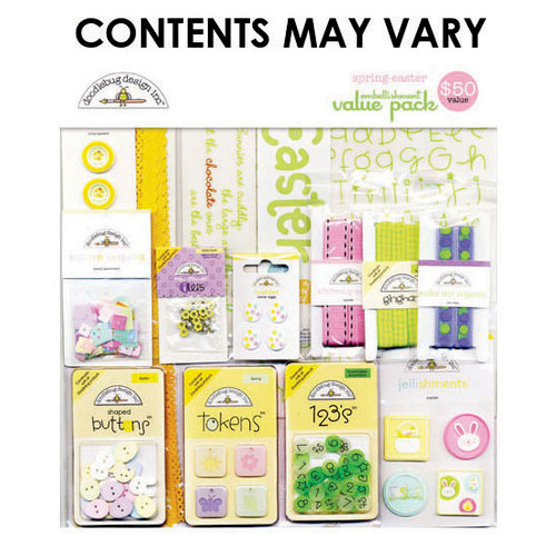 Doodlebug Design - Embellishment Value Pack - Spring Easter