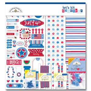 Doodlebug Designs - Let's Kit Together - Uncle Sam, CLEARANCE