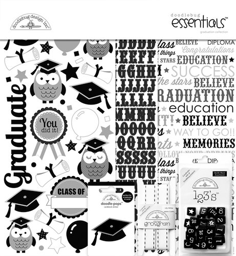 Doodlebug Design - Cap and Gown Collection - Essentials Kit