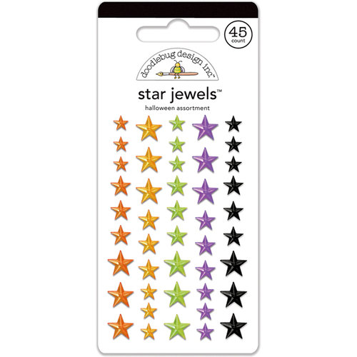 Doodlebug Design - Halloween Parade Collection - Star Jewels - Adhesive Rhinestones - Halloween