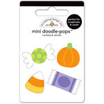 Doodlebug Design - Halloween Parade Collection - Doodle-Pops - 3 Dimensional Stickers - Mini - Teeny Treats