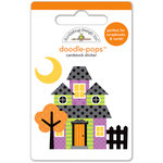 Doodlebug Design - Halloween Parade Collection - Doodle-Pops - 3 Dimensional Stickers - Haunted House