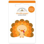 Doodlebug Design - Happy Harvest Collection - Doodle-Pops - 3 Dimensional Cardstock Stickers - Tommy Turkey