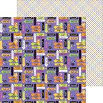 Doodlebug Design - Halloween Parade Collection - 12 x 12 Double Sided Paper - Every Witch Way