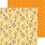 Doodlebug Design - Happy Harvest Collection - 12 x 12 Double Sided Paper - Apple Orchard