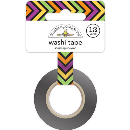 Doodlebug Design - Halloween Parade Collection - Washi Tape - Shocking Chevron