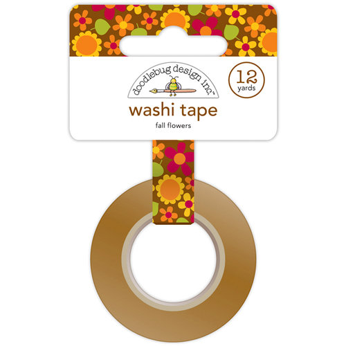 Doodlebug Design - Happy Harvest Collection - Washi Tape - Fall Flowers