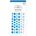 Doodlebug Design - Sprinkles - Self Adhesive Enamel Dots - Blue Jean