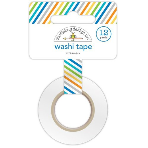 Doodlebug Design - Hip Hip Hooray Collection - Washi Tape - Streamers