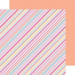 Doodlebug Design - Sugar Shoppe Collection - 12 x 12 Double Sided Paper - Sorbet Stripe