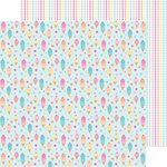 Doodlebug Design - Sugar Shoppe Collection - 12 x 12 Double Sided Paper - Ice Cream parlor