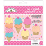 Doodlebug Design - Sugar Shoppe Collection - Cupcakes and Cones Craft Kit
