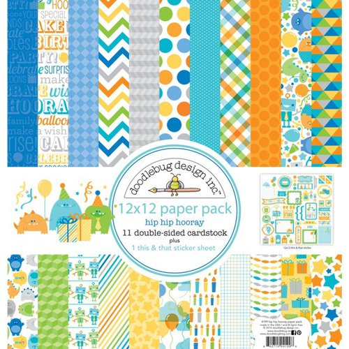 Doodlebug Design - Hip Hip Hooray Collection - 12 x 12 Paper Pack