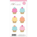 Doodlebug Design - Sugar Shoppe Collection - Cardstock Stickers - Mini Icons - Cupcakes
