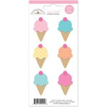 Doodlebug Design - Sugar Shoppe Collection - Cardstock Stickers - Mini Icons - Ice Cream