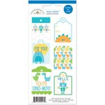 Doodlebug Design - Hip Hip Hooray Collection - Cardstock Stickers - Mini Tags