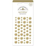 Doodlebug Design - The Graduates Collection - Sprinkles - Self Adhesive Enamel Dots - Gold