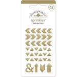 Doodlebug Design - The Graduates Collection - Sprinkles - Self Adhesive Arrows - Gold