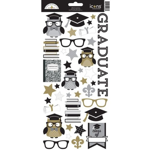 Doodlebug Design - The Graduates Collection - Cardstock Stickers - Icons