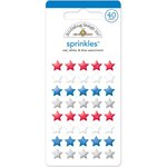 Doodlebug Design - Patriotic Parade Collection - Sprinkles - Self Adhesive Stars - Red, White and Blue
