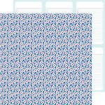 Doodlebug Design - Patriotic Parade Collection - 12 x 12 Double Sided Paper - Patriotic Posies