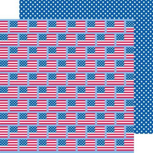 Doodlebug Design - Patriotic Parade Collection - 12 x 12 Double Sided Paper - American Pride