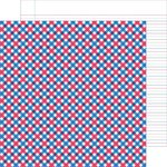 Doodlebug Design - Patriotic Parade Collection - 12 x 12 Double Sided Paper - Proud Plaid