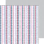 Doodlebug Design - Patriotic Parade Collection - 12 x 12 Double Sided Paper - Starry Stripes