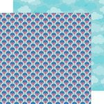 Doodlebug Design - Patriotic Parade Collection - 12 x 12 Double Sided Paper - Balloon Parade