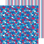 Doodlebug Design - Patriotic Parade Collection - 12 x 12 Double Sided Paper - Land that I Love