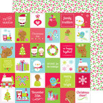 Doodlebug Design - Santa Express Collection - Christmas - 12 x 12 Double Sided Paper - Very Merry