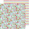 Doodlebug Design - Santa Express Collection - Christmas - 12 x 12 Double Sided Paper - Season's Greetings