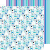 Doodlebug Design - Frosty Friends Collection - Christmas - 12 x 12 Double Sided Paper - Wintery Wonderland