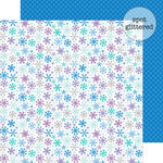 Doodlebug Design - Frosty Friends Collection - Christmas - 12 x 12 Double Sided Glitter Paper - Festive Furry